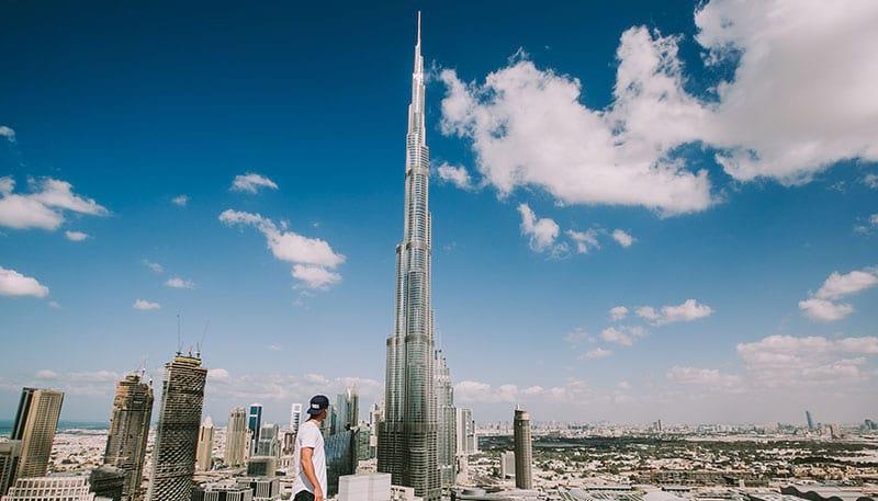 Sicht auf den Burj Khalifa