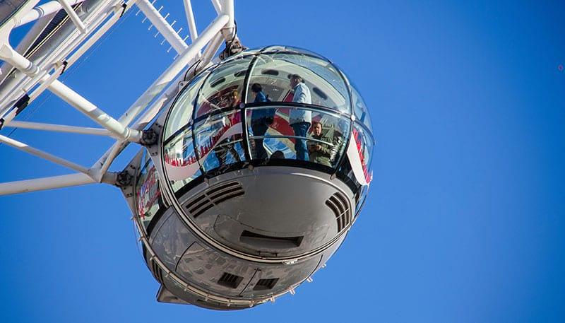 Glas-Gondel des London Eye