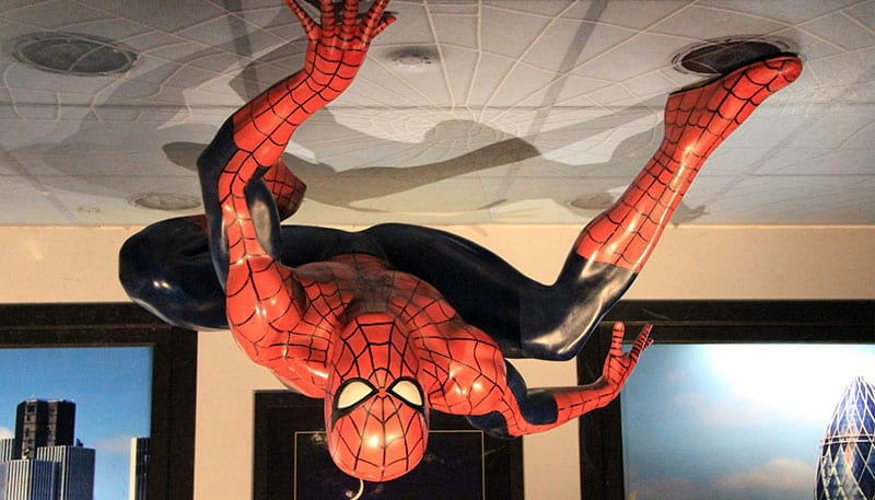 Spider Man im Madame Tussauds