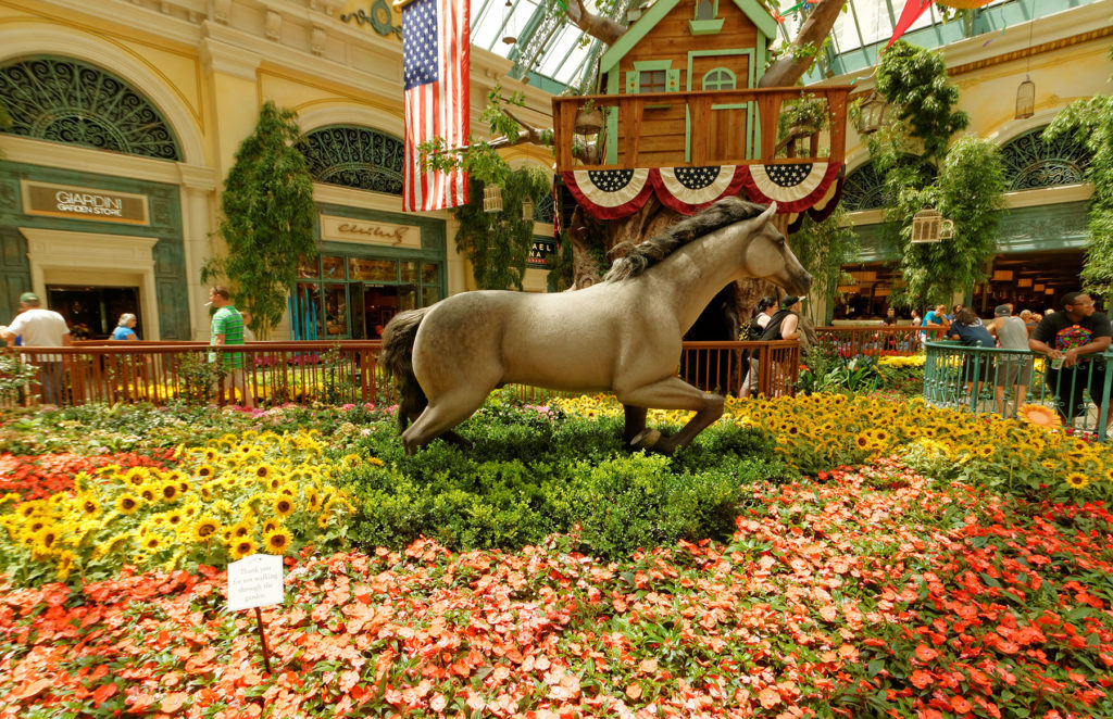 Visit the Bellagio Conservatory & Botanical Gardens.