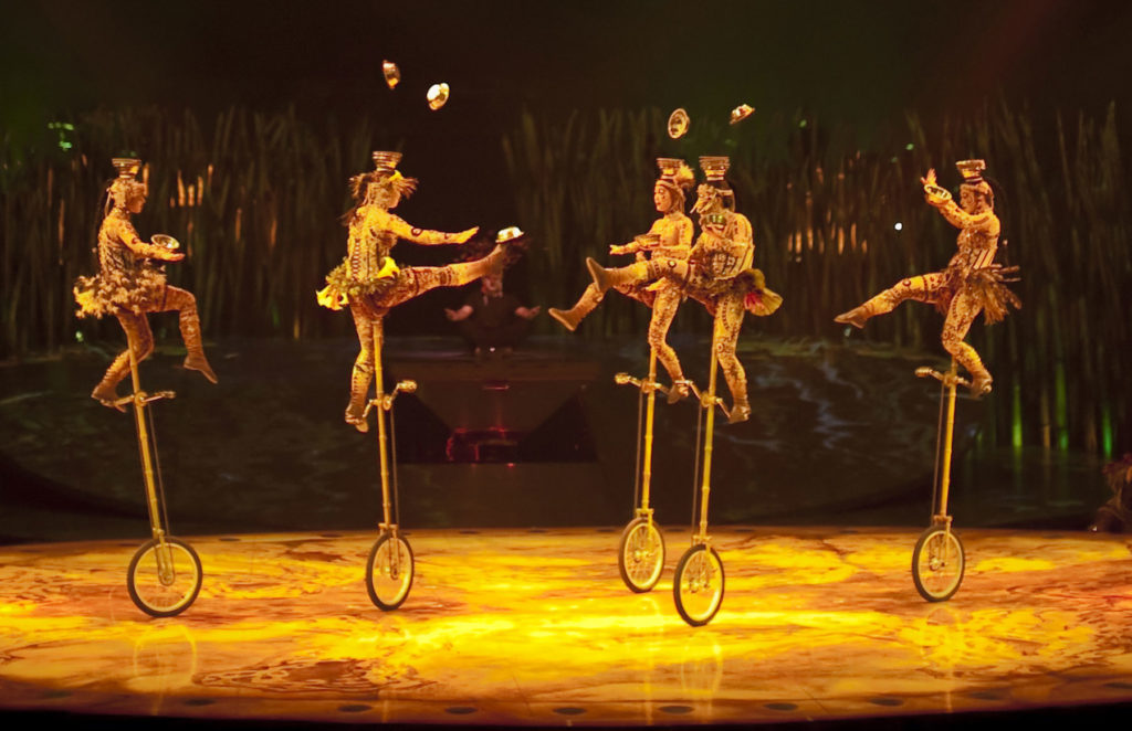 Catch a magical performance by Cirque du Soleil.