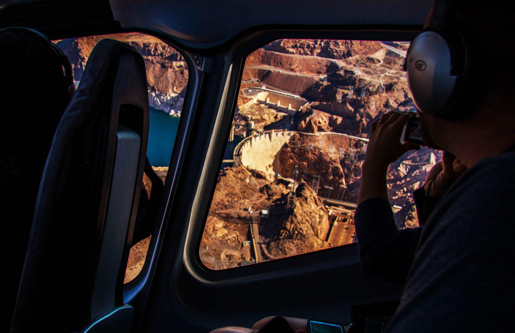 Take a helicopter tour to the Grand Canyon.