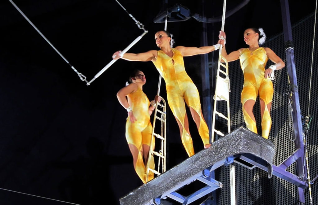 Trapeze artists at Circus Circus.