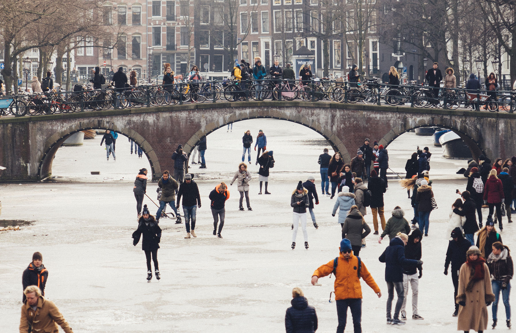 Ice Skating in Amsterdam