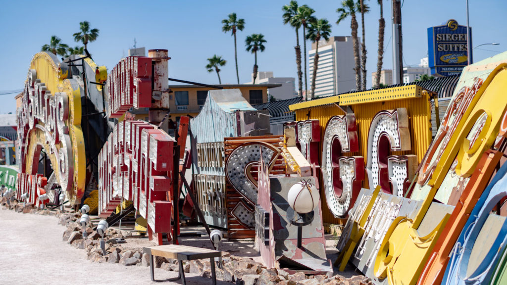 The signs at the Neon Museum.