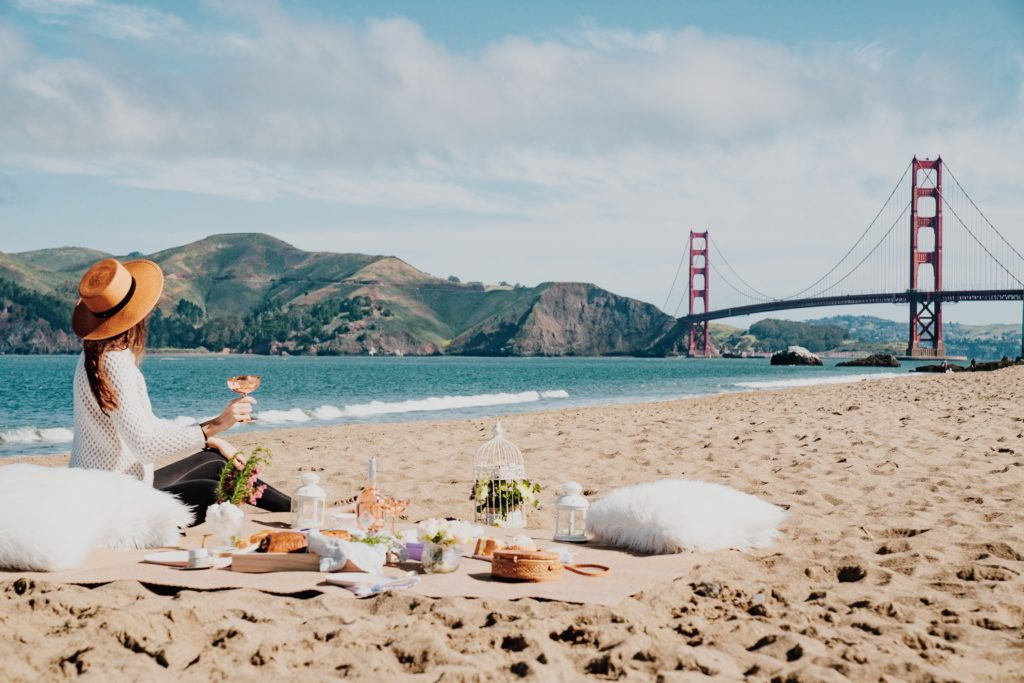 Picnic on Baker Beach