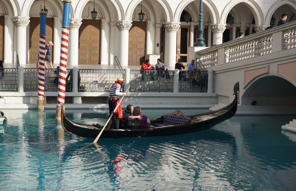 Relax on a Gondola Ride at the Venetian Hotel.