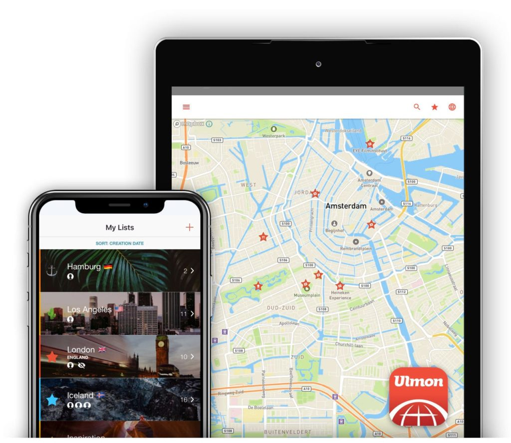 Plan your trips with powerful lists and have them on your map wherever you go.